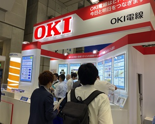 Oki Electric Cable's booth